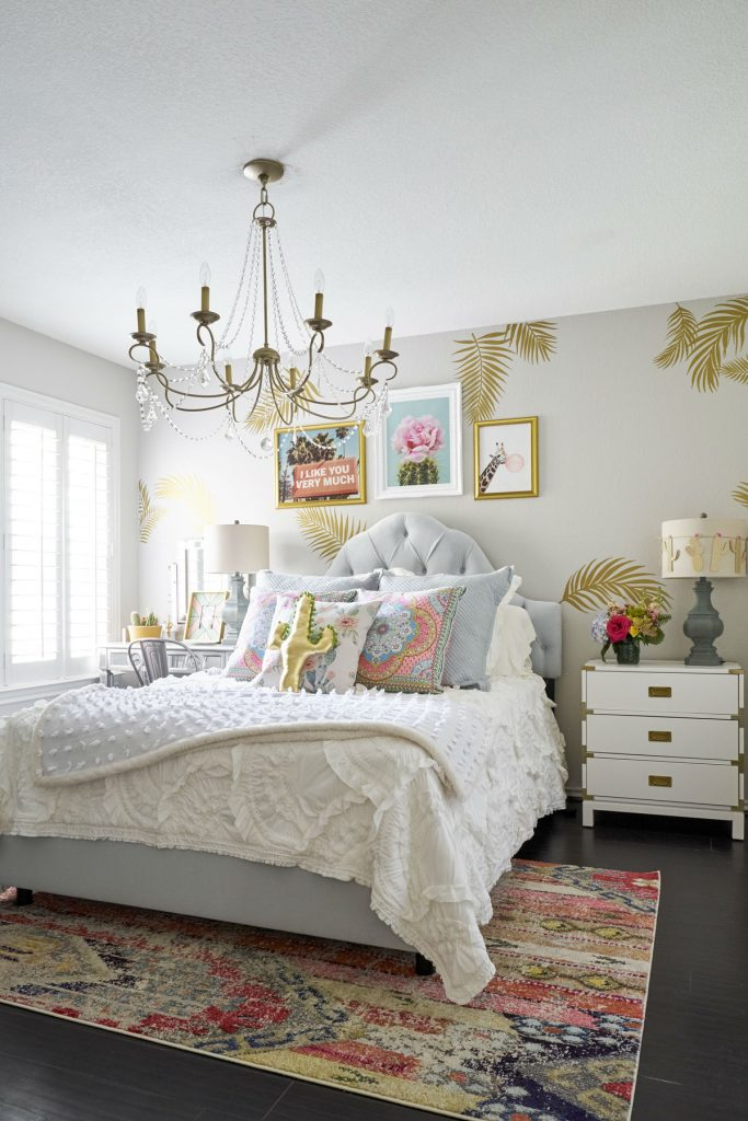 Anthropologie bedroom style, eclectic