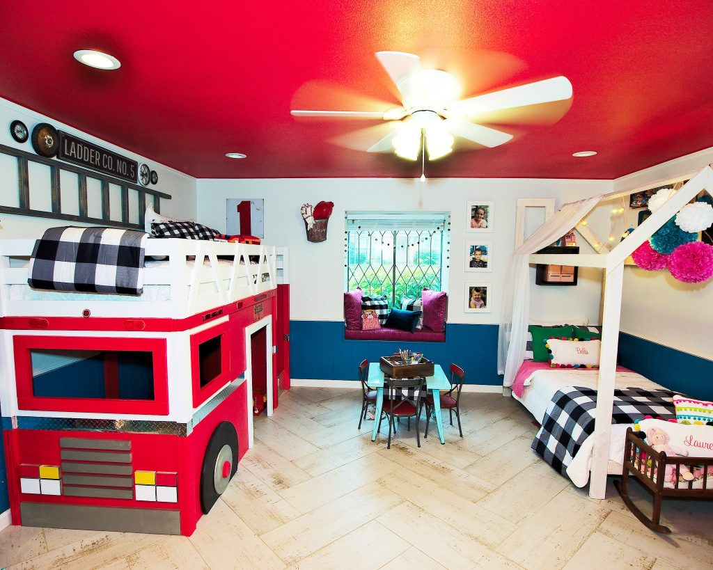 Firetruck bed and princess DIY bed