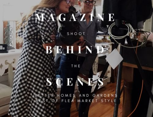 Come Behind the Scenes on my Flea Market Magazine Photo Shoot!